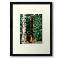 Northwest Totem Pole Framed Print