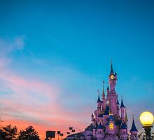 Disneyland at Dusk by ThatDisneyLover