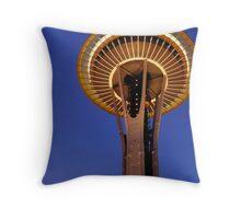 Space Needle - Night Throw Pillow