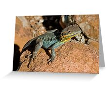 Painted Dragon 2 Greeting Card