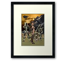 Future Times .. the space wars Framed Print