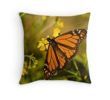 On golden wings Throw Pillow