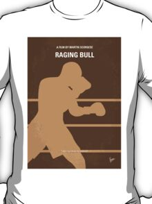 No174 My Raging Bull minimal movie poster T-Shirt