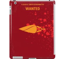No176 My Wanted minimal movie poster iPad Case/Skin