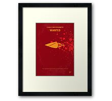 No176 My Wanted minimal movie poster Framed Print