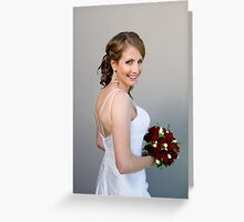 Bride and bouquet Greeting Card