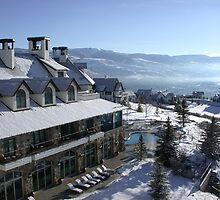 Rocky Mountain Lodge by Turbinephoto