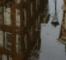 Starting to Rain - Amsterdam Canal Houses Reflected Sticker