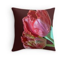 Two Red Tulips Vector Isolated Throw Pillow