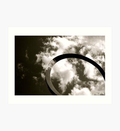 Cloud Bend Art Print