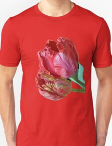 Two Red Tulips Vector Isolated Unisex T-Shirt