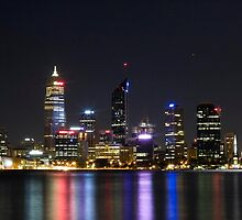 Perth Night Lights by tbasten