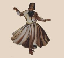 Whirling Dervish Conveys God's Spiritual Gift  by taiche