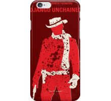 No184 My Django Unchained minimal movie poster iPhone Case/Skin