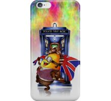 Doctor Cartoons Parody with england flag iPhone Case/Skin