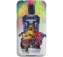 Doctor Cartoons Parody with england flag Samsung Galaxy Case/Skin