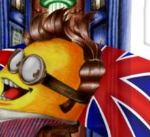 Doctor Cartoons Parody with england flag Sticker