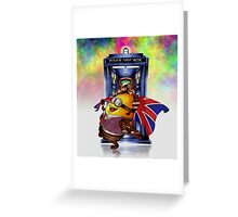 Doctor Cartoons Parody with england flag Greeting Card