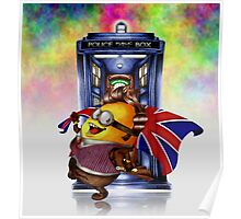 Doctor Cartoons Parody with england flag Poster