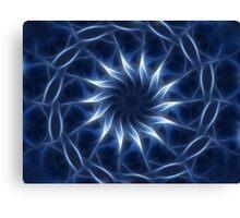Blue Kaleidoscope 10 Canvas Print