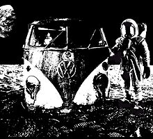 VW on moon by JCLARTWORK