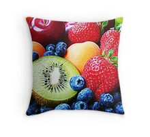 Selection of Fruits Throw Pillow