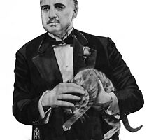 The Godfather with a cat by OnaVonVerdoux