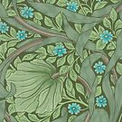 Wallpaper Sample with Forget-Me-Nots by Bridgeman Art Library
