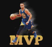 Stephen Curry 2015 MVP Print #2 T-Shirt