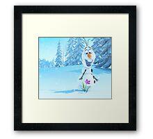 Frozen-Olaf Duvet Cover (All Sizes) Framed Print