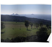 Glasshouse Mountains from Mount Mee Poster