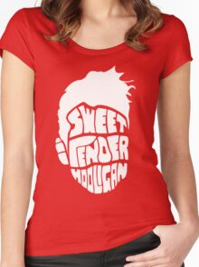 Sweet and Tender Hooligan (White Only) Women's Fitted Scoop T-Shirt