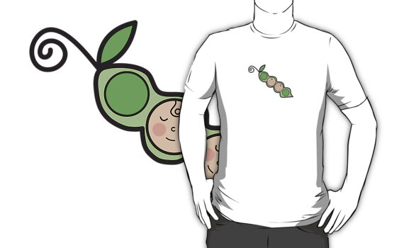 Baby Boy Twins Peas in a Pod T-shirt by fatfatin