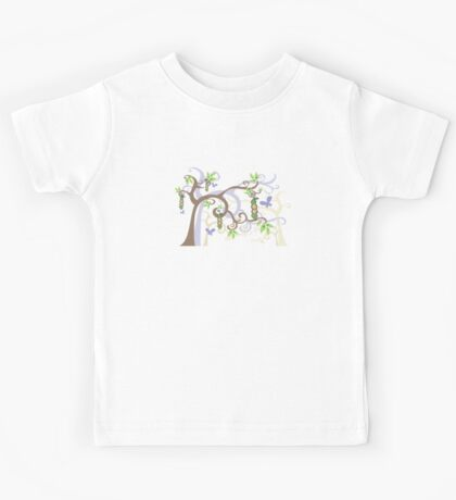Magic Trees and Baby Boy Girl Twins Peas in a Pod Kids Tee