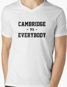 Cambridge vs Everybody Mens V-Neck T-Shirt