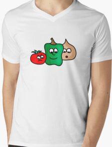 Veg Mens V-Neck T-Shirt
