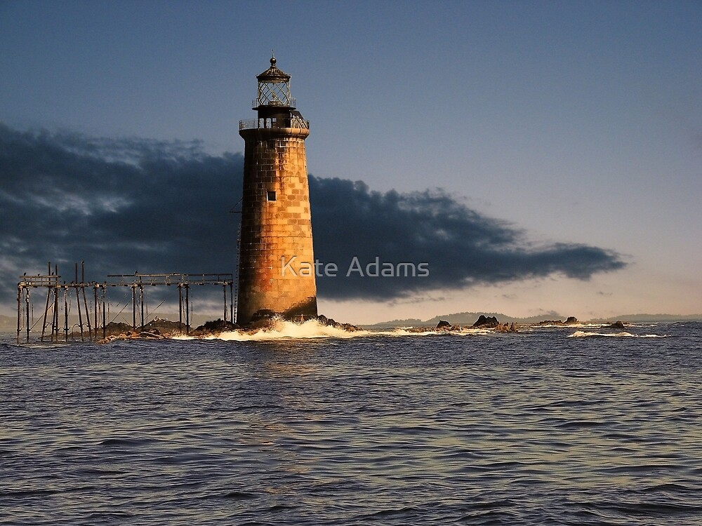 Ram Island Ledge Portland Maine by Kate Adams