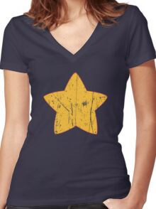 Steven Universe - Distressed (Battle Damaged) Women's Fitted V-Neck T-Shirt