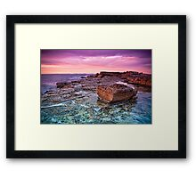 Dawn Rocks Framed Print
