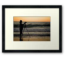SurfersCameraMan © Vicki Ferrari Photography Framed Print