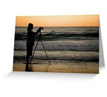 SurfersCameraMan © Vicki Ferrari Photography Greeting Card