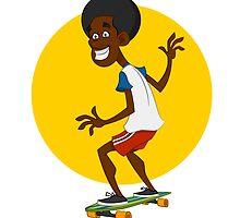 dude on long board. by Evgenii Sidorov