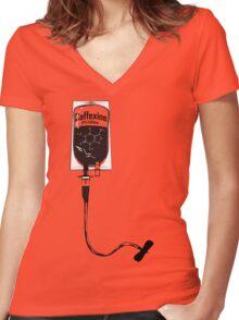 Caffeine IV Women's Fitted V-Neck T-Shirt