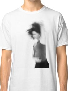 Blurry hyper active young woman  Classic T-Shirt