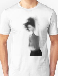 Blurry hyper active young woman  Unisex T-Shirt