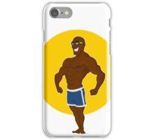 muscular man posing. iPhone Case/Skin