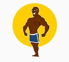 muscular man posing. Unisex T-Shirt