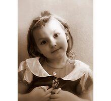 Sepia Snow White Trinity Photographic Print