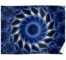 Blue Kaleidoscope 11 Poster