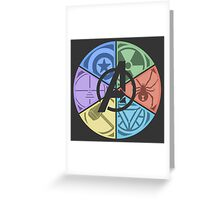 Team Avengers Assemble - Circular Greeting Card